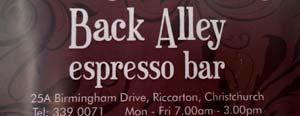 Back Alley Espresso Bar