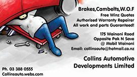 Collins Automotive Developments Ltd